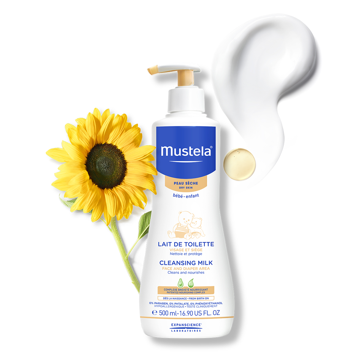 Dermo Cleasing Mustela loción 500 ml.