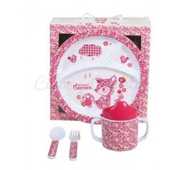 Set vajilla 3 piezas berries regalos para beb s for Vajillas bebe personalizadas