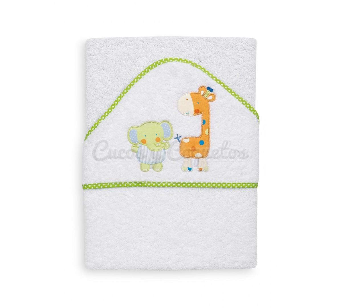 Capa ba o elefante jirafa regalos para beb s - Capas de bano bebe personalizadas ...