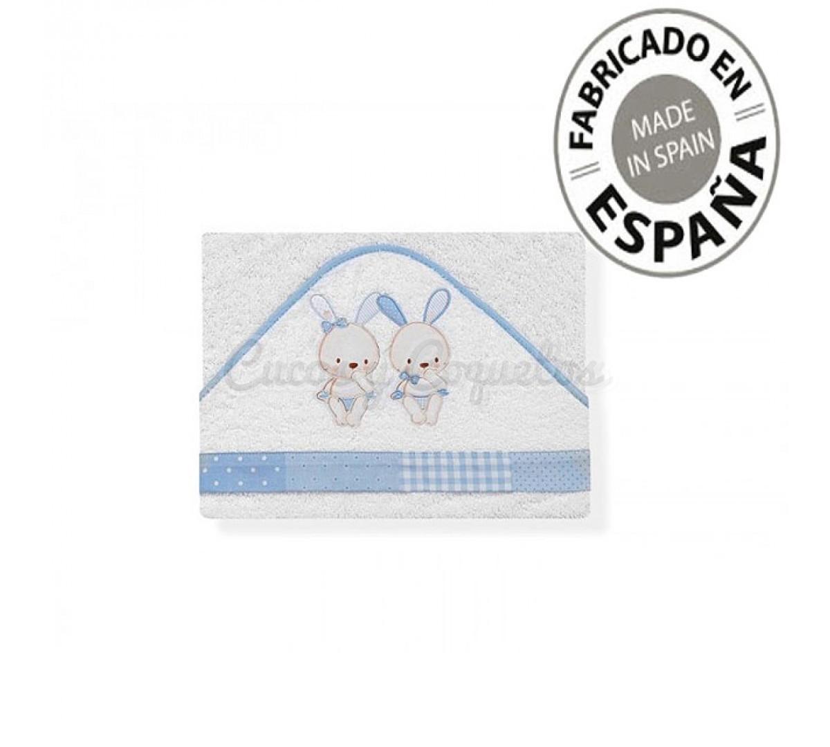 Baño Infantil Mustela:CAPA BAÑO CONEJITOS
