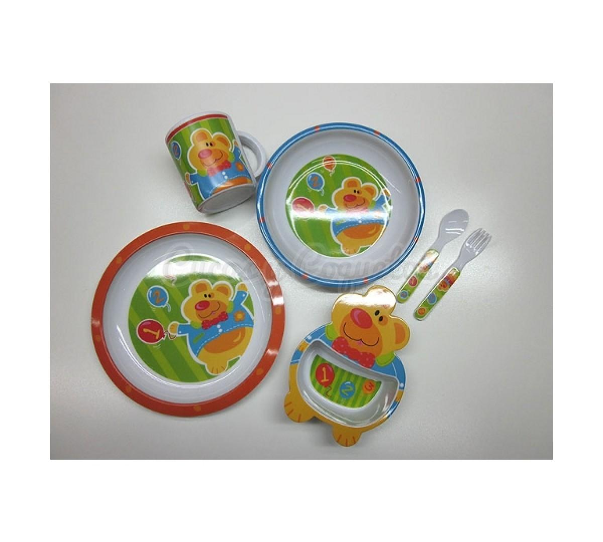 Vajilla 6 piezas osito regalos para beb s canastillas for Vajillas bebe personalizadas