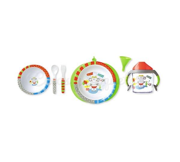 Vajilla 6 piezas de mono regalos para beb s canastillas for Vajillas bebe personalizadas