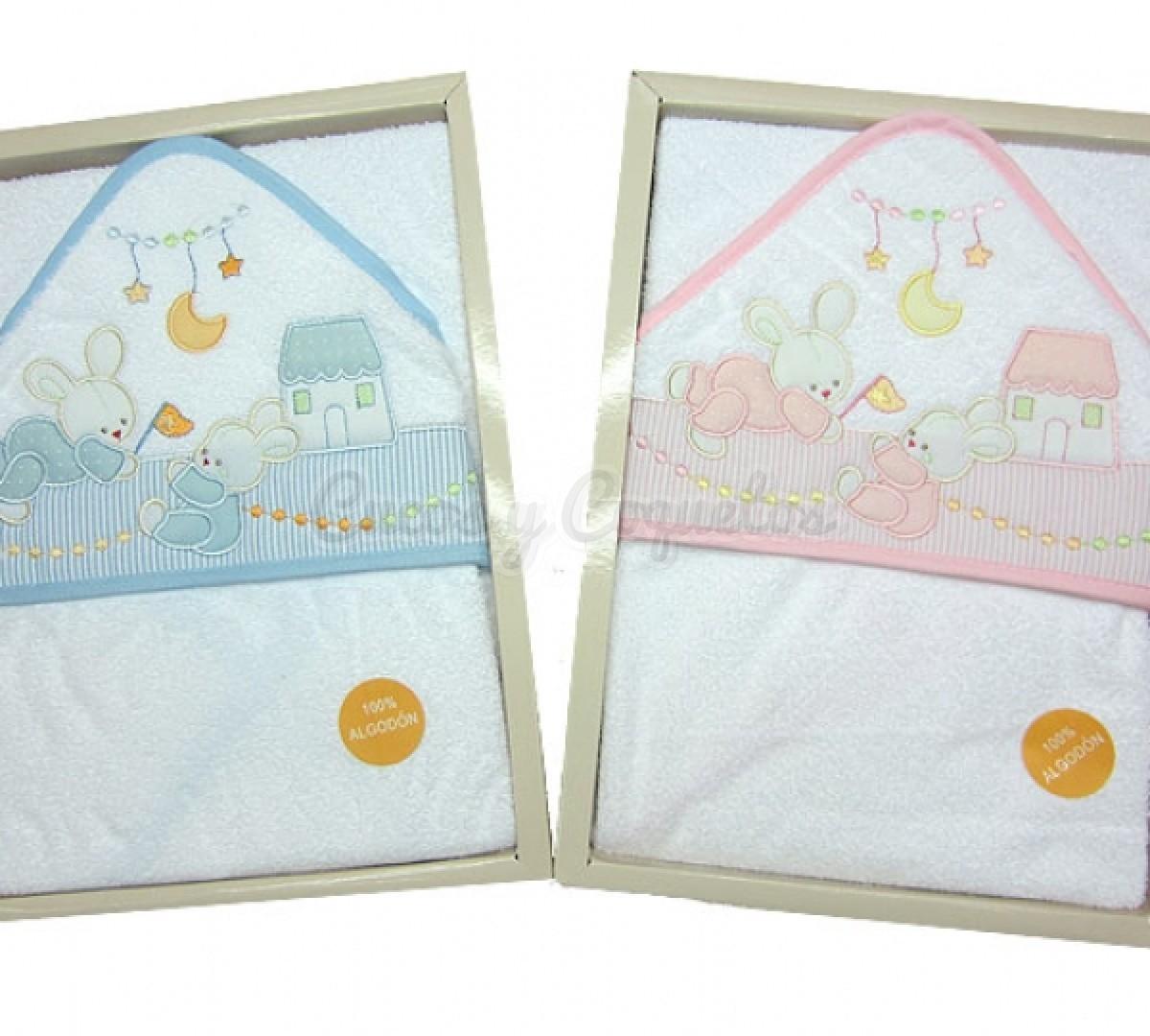 Capa ba o beb pastello regalos para beb s canastillas - Capa bano bebe ...