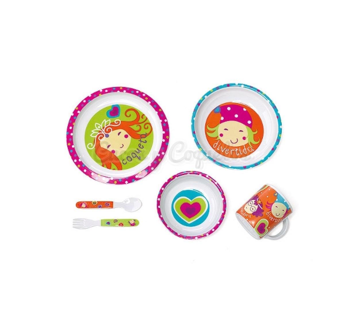Vajilla 6 piezas de ni as regalos para beb s for Vajillas bebe personalizadas