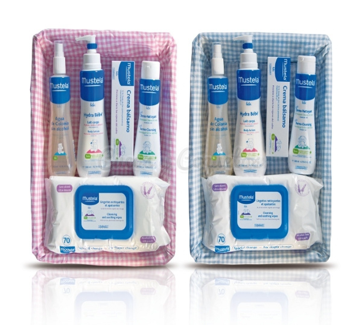 Canastillas iguales mustela aseo regalos para beb s canastillas personalizadas cucos y coquetos - Canastillas para bebes ...