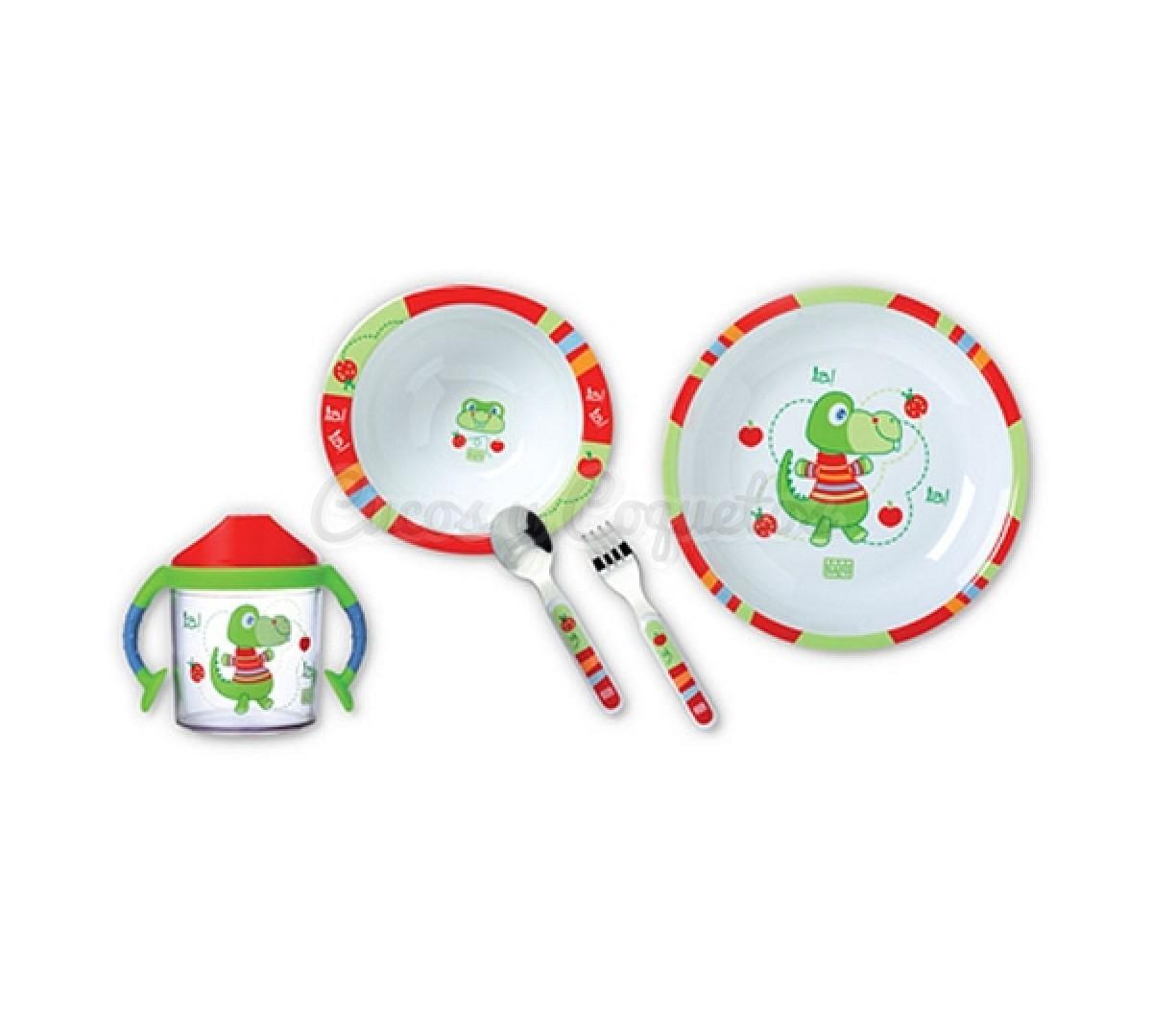 Vajilla 5 piezas colorines regalos para beb s for Vajillas bebe personalizadas