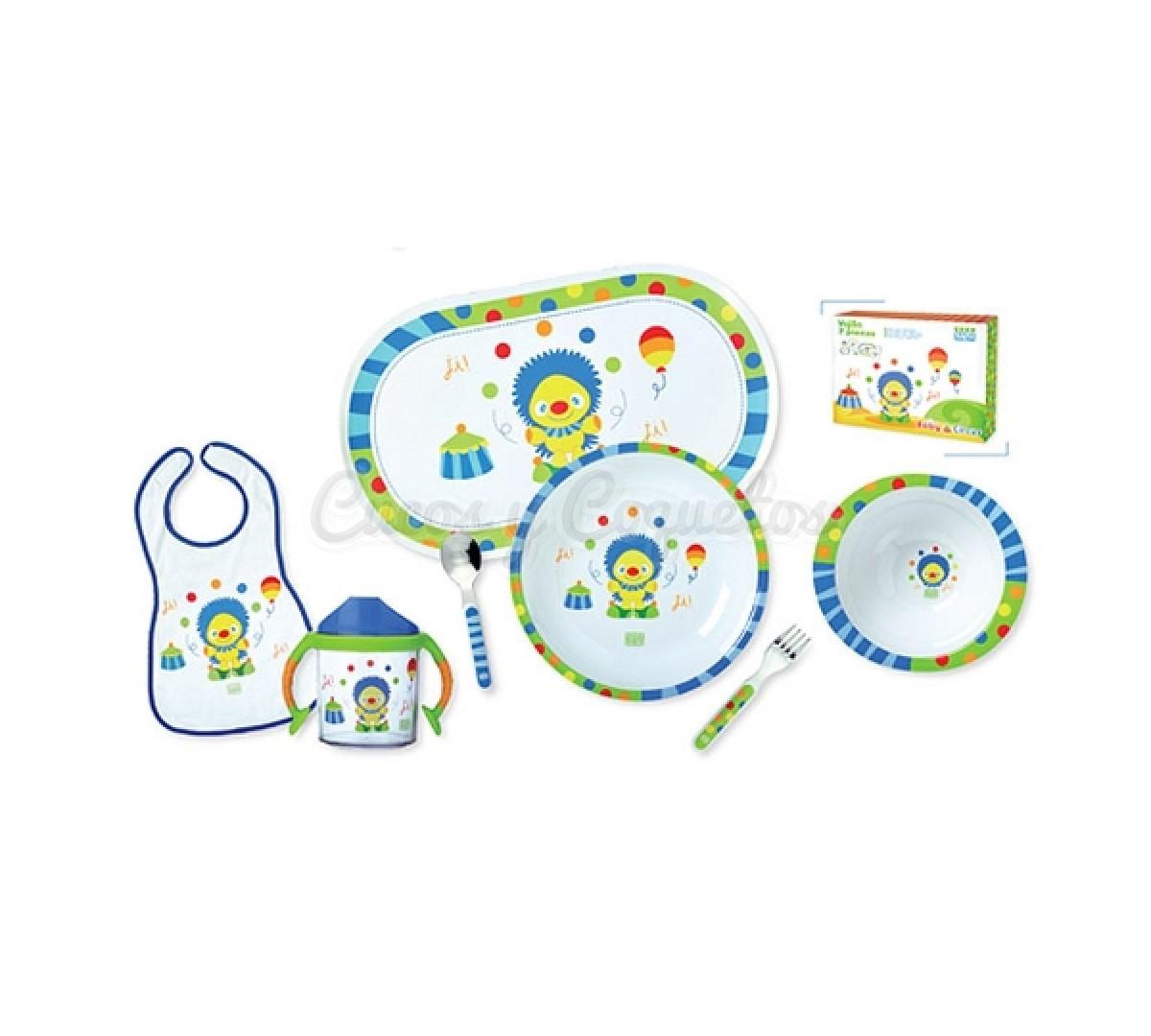 Vajilla 7 piezas baby circus regalos para beb s for Vajillas bebe personalizadas