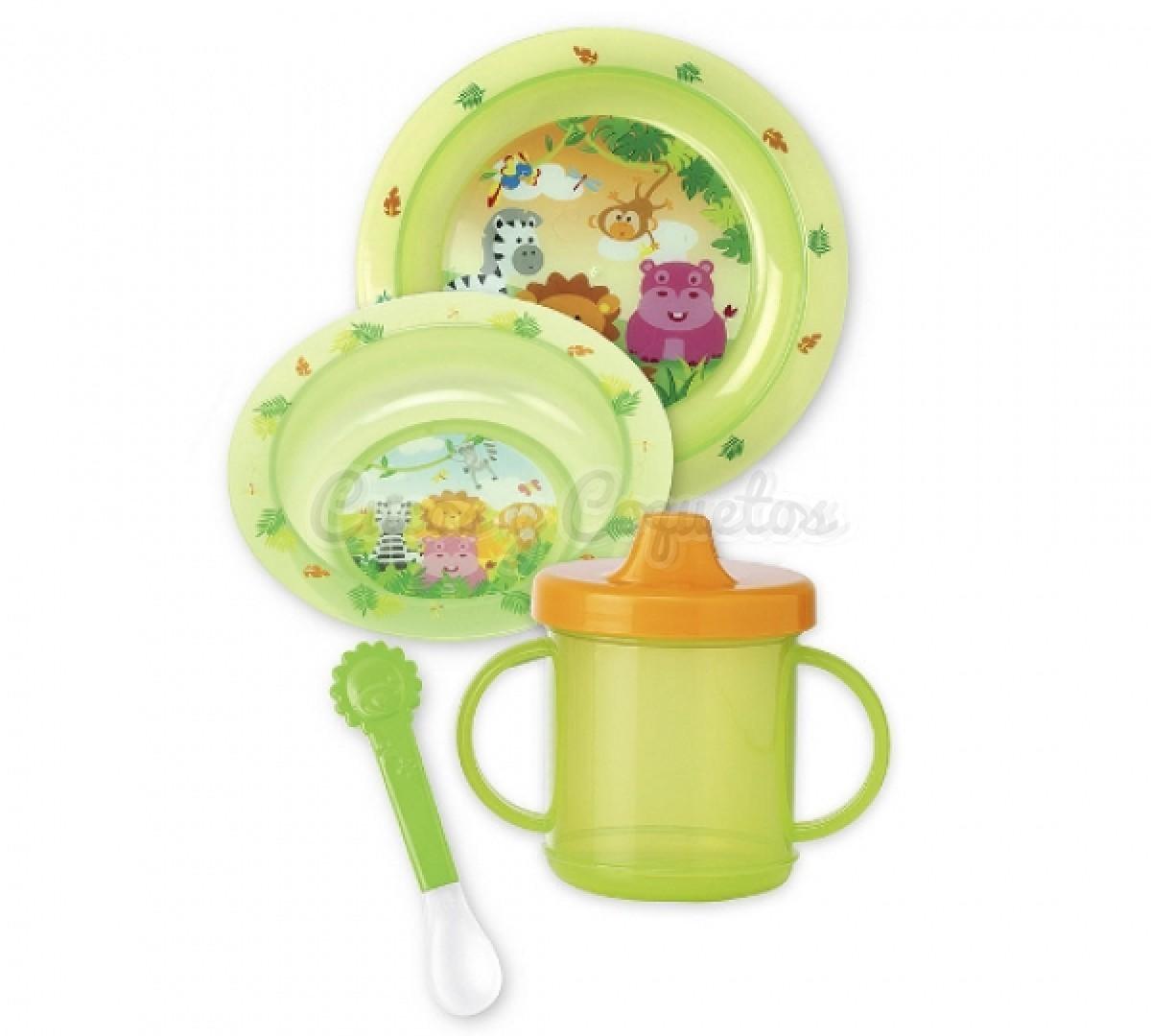 Vajilla microondas jungla regalos para beb s for Vajillas bebe personalizadas