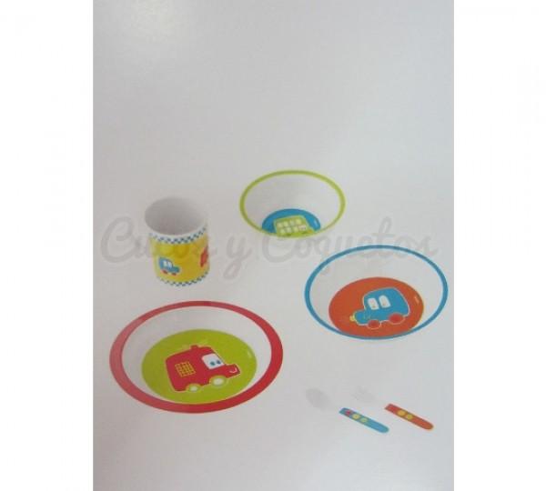 Vajilla 6 piezas de coche regalos para beb s for Vajillas bebe personalizadas