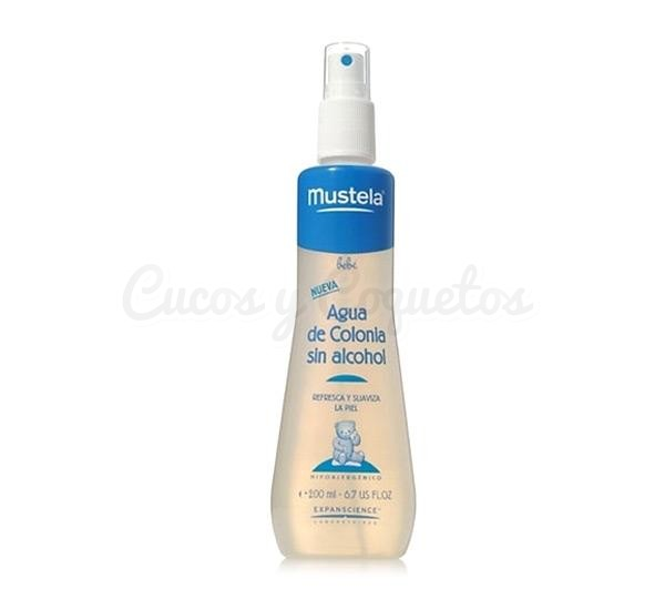 Agua de colonia Mustela 200 ml. sin alcohol